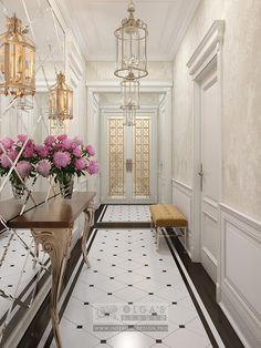 Hallway interior design visualisations, hall design projects, hallway design from Olga's Studio White Hallway, Decor, Modern Interior, House Design, Hall Design, Floor Design, Hallway Designs, Home Decor, House Interior