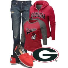 """""""Go Dawgs"""" by c-michelle on Polyvore"""
