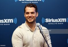 Actor Henry Cavill during SiriusXM's Entertainment Weekly Radio 'The Man from U.N.C.L.E.' Town Hall with Guy Ritchie, Henry Cavill and Armie Hammer at SiriusXM Studios on August 12, 2015 in New York City.