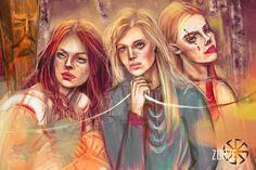 Trzy Zorze by slavicisanna. Slavic Goddesses