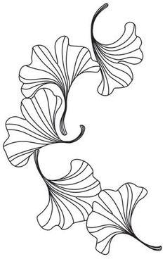 Engraved Ginkgo | Urban Threads: Unique and Awesome Embroidery Designs Embroidery Designs, Embroidery Leaf, Embroidery Cards, Hand Embroidery Patterns, Machine Embroidery, Leaf Patterns, Paper Patterns, Motif Art Deco, Urban Threads