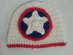 Ravelry: Captain America Superhero Shield Logo Inspired Beanie Hat Crochet Pattern pattern by Niki Wyre