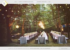 A dream reception! Every detail is perfect for an outdoor wedding reception. Photo Credit: Deidre Carlson #shootandshare