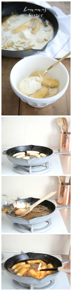 Easy step by step Bananas Foster recipe