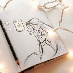 My Disney drawing And finally I see the light rapeux rapunzel Meine Disney Zeichnung Und schließlich sehe ich das Licht rapeux rapunzel beautyskin My Disney drawing And finally I see that … - Disney Drawings Sketches, Pencil Art Drawings, Drawing Sketches, Sketching, Cute Disney Drawings, Drawing Ideas, Cool Sketches, Original Disney Sketches, Cute Drawings Of Girls