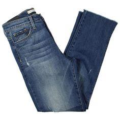92b68c813b5 Flying Monkey Womens Blue Denim Distressed Straight Leg Jeans 28 BHFO 6842   fashion  clothing