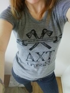 Our new track shirts with logo print come in women's sizes, too. This is the version in S. Euros, get'em at AXT CrossFit! Crossfit, Track, T Shirts For Women, Logo, Fashion, Moda, Logos, Runway, Truck