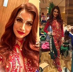 Traje de Inspirado en Los Diablosa Danzante de Yare, se Presento Stephanie de Zorzii en el Miss Earth 2016.. by Antoni Azocar
