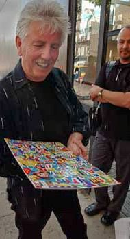 July 2004, NYC outside of the Jim Kemper Gallery : A Gift for Graham Nash  photo by Roger Barone