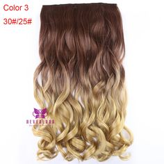 Long Curly Wavy Hair Extensions 3/4 Full Head Clip in Hair Extensions