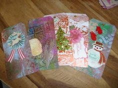 winter theme tags ...