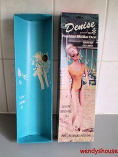 VINTAGE 1960's DAVTEX FASHION MODEL DOLL DENISE BOX ONLY  9.49+3.95