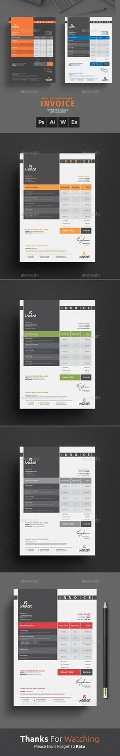 Invoice Stationery printing, Print templates and Template