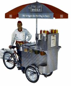 HOT DOG STREET FOOD CART BIKE FOR SELLING HOT DOG IN THE STREET.