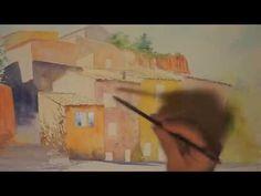 La porte fleurie - Démo aquarelle -(watercolor tutorial) - YouTube