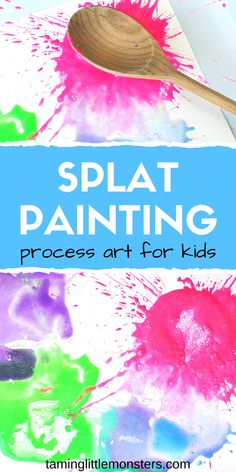 Learn how to make Splat Painting a fun and easy process art activity for toddlers and preschoolers This messy play idea is great for summer and rainy days alike Watch the video tutorial to see how it s done Art Activities For Toddlers, Kids Painting Activities, Preschool Painting, Art With Toddlers, Summer Crafts For Preschoolers, Preschool Summer Crafts, Baby Room Activities, Process Art Preschool, Water Play Activities