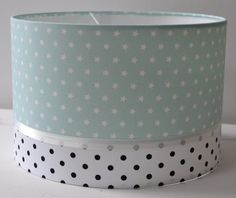 Mint Lamp Sterretjes & Dots black and white,