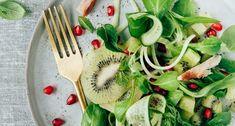 Komkommersalade met kiwi