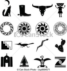 Desert Southwest Icons - csp8994571