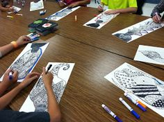 Wahoo for Art! Teaching Drawing, Drawing Lessons, Teaching Art, Art Lessons, Teaching Resources, Drawing Ideas, Art For Kids, Crafts For Kids, 8th Grade Art