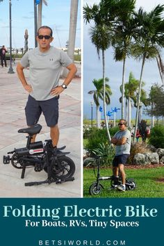 The Foldable Electric Bike - A Gamechanger for Boaters, RVers, & Urban Dwellers ~ Betsi's World New Travel, Luxury Travel, Family Travel, Travel Tips, Travel Destinations, Travel Hacks, Travel Essentials, Budget Travel, Foldable Electric Bike