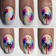 Beautiful nail art diy - easy - step by step i 2019 ногти, м Nail Art Diy, Easy Nail Art, Diy Nails, Cute Nails, Pretty Nails, Sharpie Nail Art, Gel Manicure, Nail Nail, Spring Nails