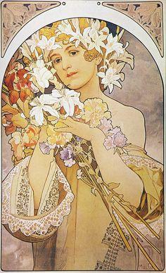 https://flic.kr/p/8bf4dn   Alphonse Mucha - P17 La Fleur/Flowers, c.1897.   P17 La Fleur/Flowers, c.1897.