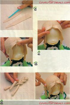 -How to Make a Doll Wig / Doll Hair - Page 14 -  Cake Decorating Tutorials (How To's)