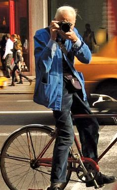 Bill Cunningham, biggest fashion legend alive  - he's also the most heart warming sweetheart and one of most passionate people in the world. Everyone should watch the documentary about him, Bill Cunningham New York