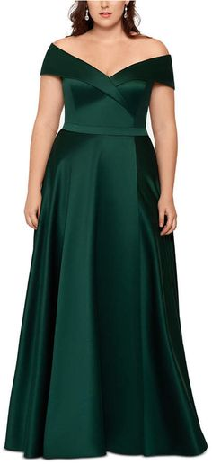 Looking for Xscape Off Shoulder Satin Ballgown (Plus Size) ? Check out our picks for the Xscape Off Shoulder Satin Ballgown (Plus Size) from the popular stores - all in one. Gowns For Plus Size Women, Plus Size Formal Dresses, Plus Size Outfits, Plus Size Bridesmaids Dresses, Evening Dresses Plus Size, Mob Dresses, Types Of Dresses, Satin Dresses, Bride Dresses