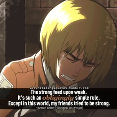 I wish Armin would just realize how important and special he really is #Armin #attackontitan #heartbreaking