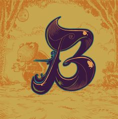 """Another entry for Lettercult's Alphabattle. Here we have the letter """"B""""."""