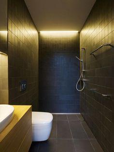 narrow bathroom design - Google Search