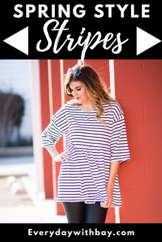 """Sharing some of my spring outfit inspiration! Dont miss out on these cute """"Spring Stripes"""" - Everyday With Bay"""