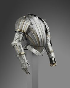 Parts of an Armor for Use in the Tilt French Geography: Made in France, Europe Date: c. Medieval Knight, Medieval Armor, Medieval Fantasy, Dark Fantasy, Fantasy Armor, Armadura Medieval, Costume Armour, Armor Clothing, Female Armor