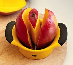 $14 Mango Pitter - I have cut many a mango, and I wonder how well this would work. I am not one to complain, though. This would shave, I dunno, 5 minutes off the mango prep time? Yeah, it's just that cool.