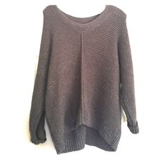 Grey Metallic Sparkled sweater! This sweater is from Target, and it's a dark grey with a hint of metallic sparkle. Very warm, comfortable, and a bit longer in the back. Very good condition! No sign of wear. Mossimo Supply Co Sweaters Crew & Scoop Necks