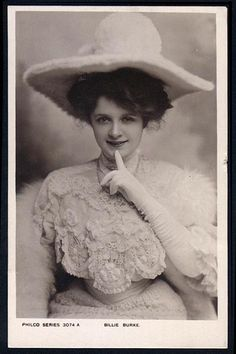 Picture of Billie Burke Stage Beauty, Billie Burke, Victorian Portraits, Glinda The Good Witch, Belle Epoch, Ziegfeld Girls, Edwardian Era, Victorian Women, Old Portraits