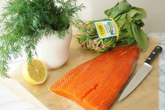 Wild Sockeye Salmon with Spinach and Dill Cream | Autoimmune Paleo