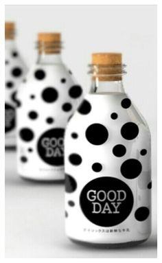 White & Black Polka Dot Bottles.