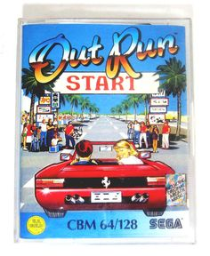 #sega's out run - commodore 64 c64 boxed cassette pal vgc ovp juego jeu u.s. gold from $29.9