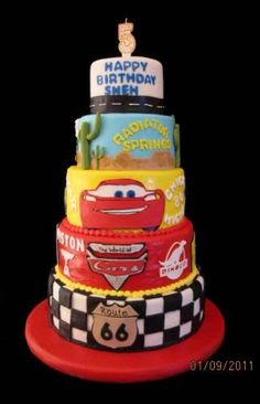 Disney Cars Birthday Cakes For Kids Just The Bottom And 3rd Layer