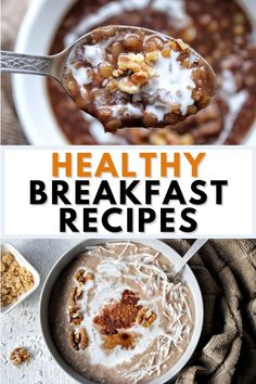 Healthy breakfast recipes that are plant-based, vegan, and vegetarian-friendly. Whether you're going for something sweet, savory, or in-between - we have them.