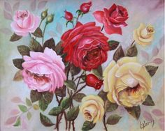 Título: Rosas. Autor :Edmundo Alvarez. Impresiones en canvas firmadas por el autor y numeradas. Medidas: 50 x 60 cms., 70 x 80 cms. y 90 x 100 cms. Pregunta por el precio.