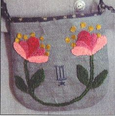 Punchneedle Pattern - Flower Pouch