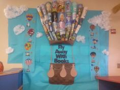 Balloon fiesta with book covers
