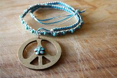 Turquoise and Natural Bohemian Hippie Flower Child by freehippie, $18.00