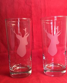 Stag cooler glasses by Anna Dewell Designs