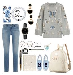 """""""ready for college"""" by ammuluharshini123 on Polyvore featuring Alexander McQueen, Frame, Sugar Paper, Parker, Fountain, Under One Sky, Casetify, Lokai, ROSEFIELD and Joshua's"""