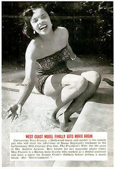Vera Francis.  jet magazine, september 25, 1952.